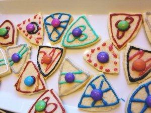 Ritterschild Keks Kindergeburtstag