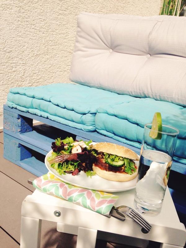 Mittagessen Palettensofa
